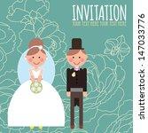 wedding invitation card   happy ... | Shutterstock .eps vector #147033776