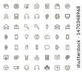 online consultation icon set.... | Shutterstock .eps vector #1470348968