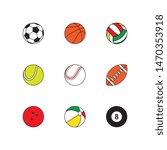 set of flat thin line... | Shutterstock .eps vector #1470353918