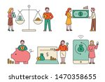 finance icons and people... | Shutterstock .eps vector #1470358655