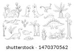 vector collection of sketches... | Shutterstock .eps vector #1470370562