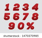 red 3d numbers set.red color... | Shutterstock .eps vector #1470370985