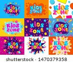 kids zone colorful banner card... | Shutterstock .eps vector #1470379358