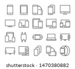 device icon. electronic and... | Shutterstock .eps vector #1470380882