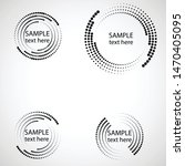 halftone dots in circle form.... | Shutterstock .eps vector #1470405095