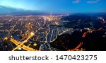 Aerial Panorama Of Taipei At...