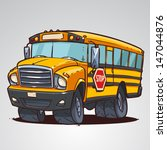 cartoon school bus isolated | Shutterstock .eps vector #147044876