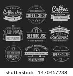 vintage logo. coffee shop... | Shutterstock . vector #1470457238