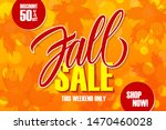 fall sale special offer banner... | Shutterstock .eps vector #1470460028