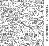 seamless pattern with doodle... | Shutterstock .eps vector #147046562