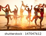 large group of young people... | Shutterstock . vector #147047612