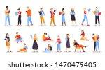 people reading book set.... | Shutterstock .eps vector #1470479405