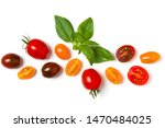 various colorful tomatoes and... | Shutterstock . vector #1470484025