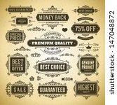 vector vintage premium quality... | Shutterstock .eps vector #147048872