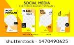 social media story template for ... | Shutterstock .eps vector #1470490625