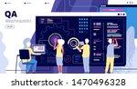 qa landing. software testing... | Shutterstock .eps vector #1470496328