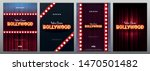 bollywood indian cinema. set of ... | Shutterstock .eps vector #1470501482