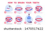 how to brush your teeth step by ... | Shutterstock .eps vector #1470517622