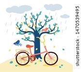 A Multi Colored Retro Bicycl...