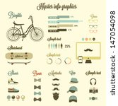 hipster info graphics elements... | Shutterstock .eps vector #147054098