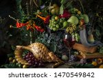 Classic Still Life With Fruit...