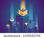 Smart City Buildings Flat...