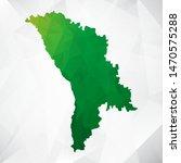 map of moldova   green... | Shutterstock .eps vector #1470575288