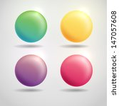 colorful round buttons.   | Shutterstock . vector #147057608
