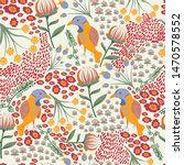 flora and fauna pattern in... | Shutterstock .eps vector #1470578552