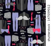 seamless pattern with hipster... | Shutterstock .eps vector #147059012