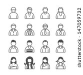 human icons set. vector... | Shutterstock .eps vector #147059732