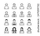 human icons set. vector... | Shutterstock .eps vector #147059732