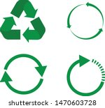 recycle icon on white...
