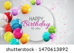 group of colour glossy helium... | Shutterstock .eps vector #1470613892