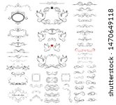 collection of beautiful frames  ... | Shutterstock . vector #1470649118