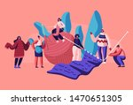 tiny female characters...   Shutterstock .eps vector #1470651305