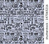 doodle vintage set seamless... | Shutterstock . vector #147065216