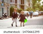 back to school. happy children...   Shutterstock . vector #1470661295