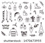 set of christmas and winter... | Shutterstock .eps vector #1470673955