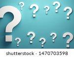 question marks banner...   Shutterstock . vector #1470703598