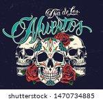 dia de los muertos colorful... | Shutterstock .eps vector #1470734885
