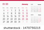 2020 january page. 12 months... | Shutterstock .eps vector #1470750215