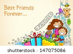 illustration of friendship day... | Shutterstock .eps vector #147075086