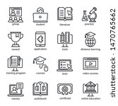 online education icon set ... | Shutterstock .eps vector #1470765662