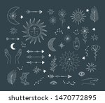 set of hand drawn doodle suns...   Shutterstock .eps vector #1470772895