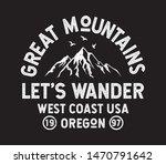 let's wander text. mountain... | Shutterstock .eps vector #1470791642