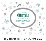 merry christmas and new year... | Shutterstock .eps vector #1470795182