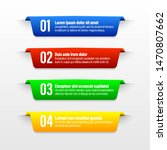 ribbon color banners. a vivid...   Shutterstock .eps vector #1470807662