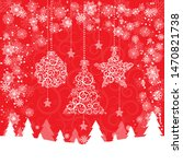 christmas holidays card vector... | Shutterstock .eps vector #1470821738