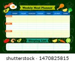 weekly meal planner with foods... | Shutterstock .eps vector #1470825815